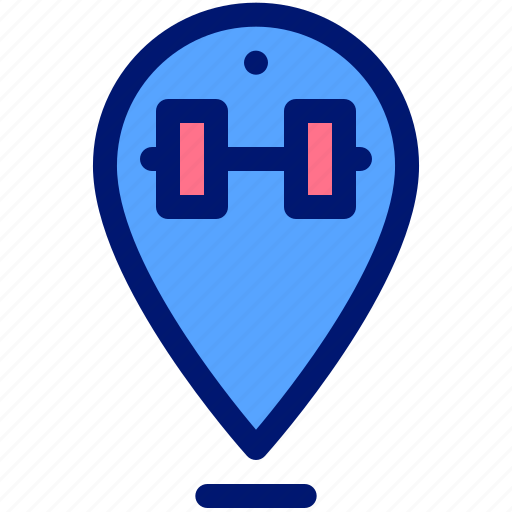 app, gym, location, map, pin icon