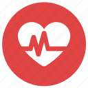 gym, health, health check, heart, heart check, pulse icon