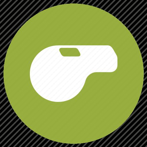 gym, sport, sports, training, whistle icon