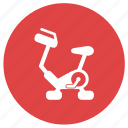 cycle ergometer, exercise bicycle, exercise bike, fitness, gym, training icon