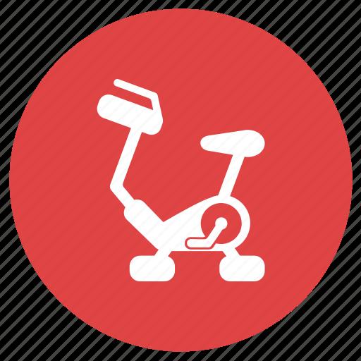 cycle ergometer, exercise bicycle, exercise bike, fitness, gym, training icon