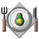 diet, dish, food, fruit, slim icon
