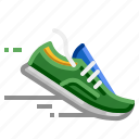 exercise, jogging, lifestyle, run, running, shoes icon