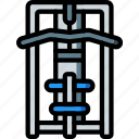 equipment, fitness, gym, health, lat, machine icon