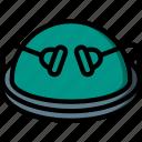 balance, dome, equipment, fitness, gym, health icon