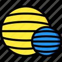 balls, equipment, fitness, gym, health icon