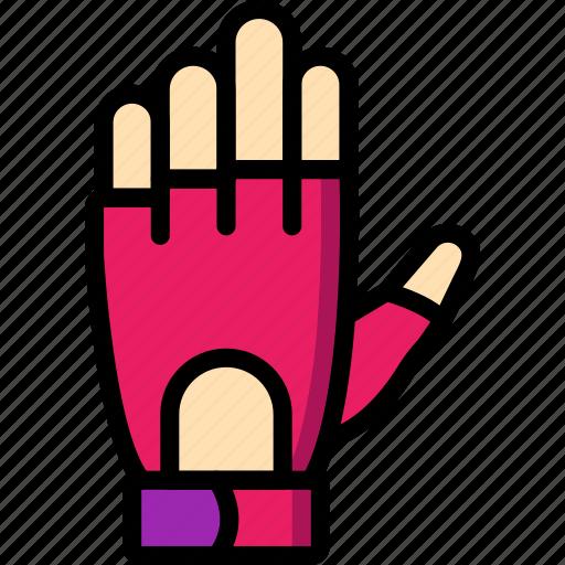 equipment, fitness, gloves, gym, health, training icon