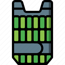 equipment, fitness, gym, health, vest, weighted icon