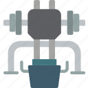 equipment, fitness, gym, health, leg, press icon