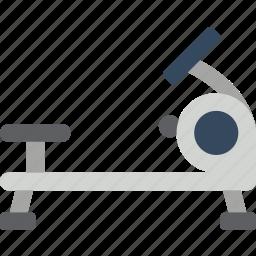 equipment, fitness, gym, health, machine, rowing icon