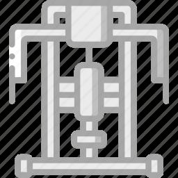equipment, fitness, gym, health, press, shoulder icon