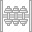 dumbbell, equipment, fitness, gym, health, rack icon