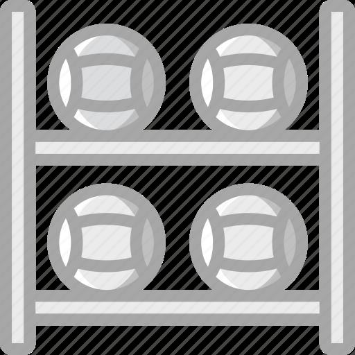 ball, equipment, fitness, gym, health, medicine, rack icon