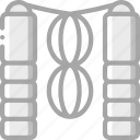 equipment, fitness, gym, health, rope, skipping icon