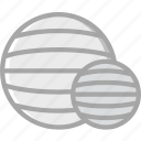 balls, equipment, fitness, gym, health icon