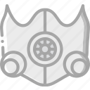 elevation, equipment, fitness, gym, health, mask icon