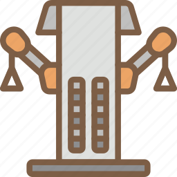 cable, equipment, fitness, gym, health, machine icon