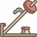 bar, equipment, fitness, gym, health, machine, t icon
