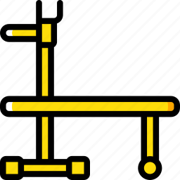 bench, equipment, fitness, gym, health, weight icon