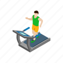 activity, exercise, isometric, man, running, training, treadmill