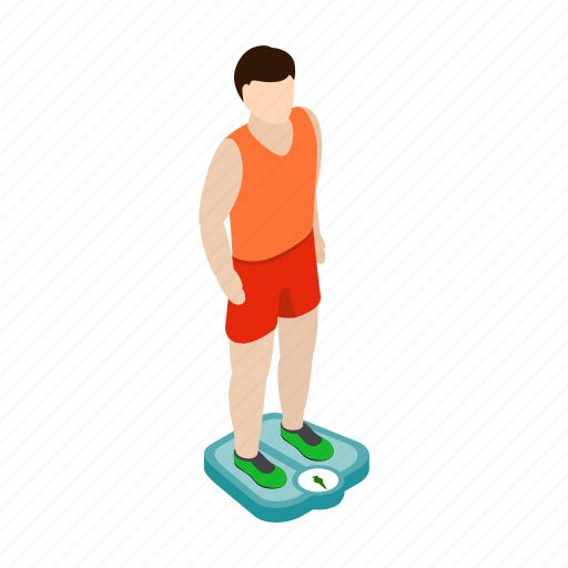 diet, isometric, man, scale, scales, weigh, weight icon