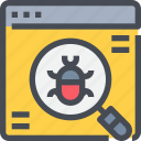browser, bug, code, coding, programming, virus icon