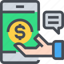 banking, business, mobile, money, payment icon