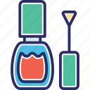 cosmetic, fashion, makeup, nail paint, nail polish icon