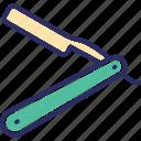 barber razor, open razor, razor, shave, shaving razor icon