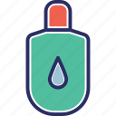 bottle, cosmetic, hair salon, oil bottle, shampoo icon
