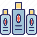 conditioner, hair moisturizer, hair tonic, oil, shampoo icon