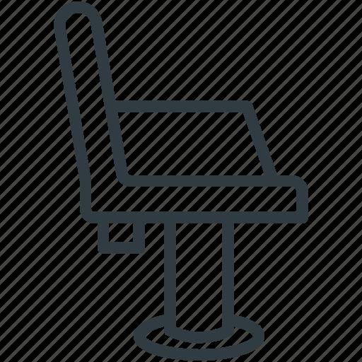 barber chair, hair cutting chair, salon chair, salon furniture, styling chair icon