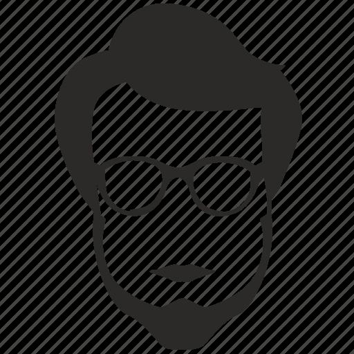 beard, hair, intellegent, man, style, terrorist icon