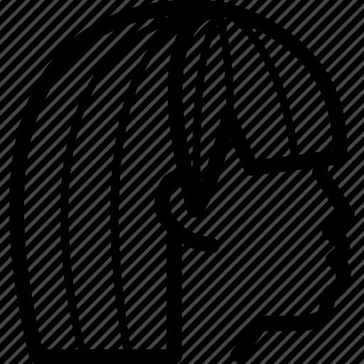 figure, fringe, hair, hairstyle, head icon