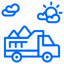 construction, sand, transport, truck, vehicle icon