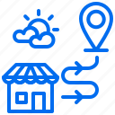 delivery, location, order, shipping, shop icon