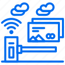 card, city, credit, portal, security, wifi icon