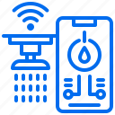 city, control, phone, water, wifi, wireless icon