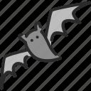 bat, flittermouse, halloween, vampire, wings icon