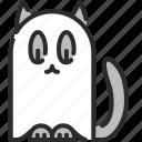 boo, cat, ghost, halloween, phantom, spooky icon