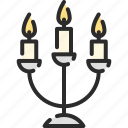advent, candle, candlestick, christmas, lights icon