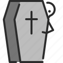cemetery, coffin, dead, death, funeral, grave, halloween