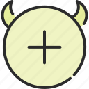 add, demon, devil, hell, new, plus, satan icon
