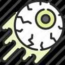 eye, eyeball, halloween, horror, vision, zombie icon