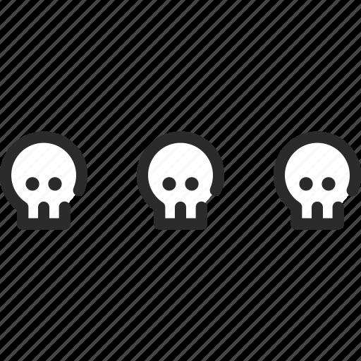 halloween, menu, more, other, skull, skulls, stack icon