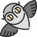 bird, halloween, night, owl, wise icon