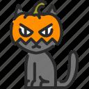 cat, creepy, fear, halloween, monster, pumpkin, spooky