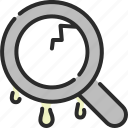 glass, magnifier, magnifying, results, search, searching, zoom icon