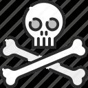 bones, dangerous, halloween, horror, pirate, skull, skull and bones icon