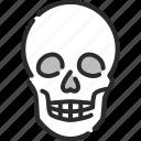 dangerous, death, halloween, horror, pirate, skeleton, skull icon